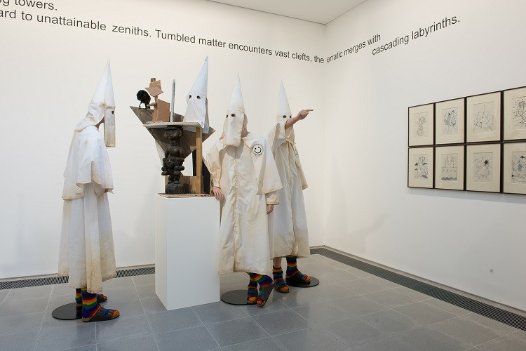 36 Ku Klux Klan Mannequins Find Refuge in Central London (Photo: Jake and Dinos Chapman Installation view, Come and See Serpentine Sackler Gallery, London (29 November 2013 - 9 February 2014) © 2013 Hugo Glendinning with permission