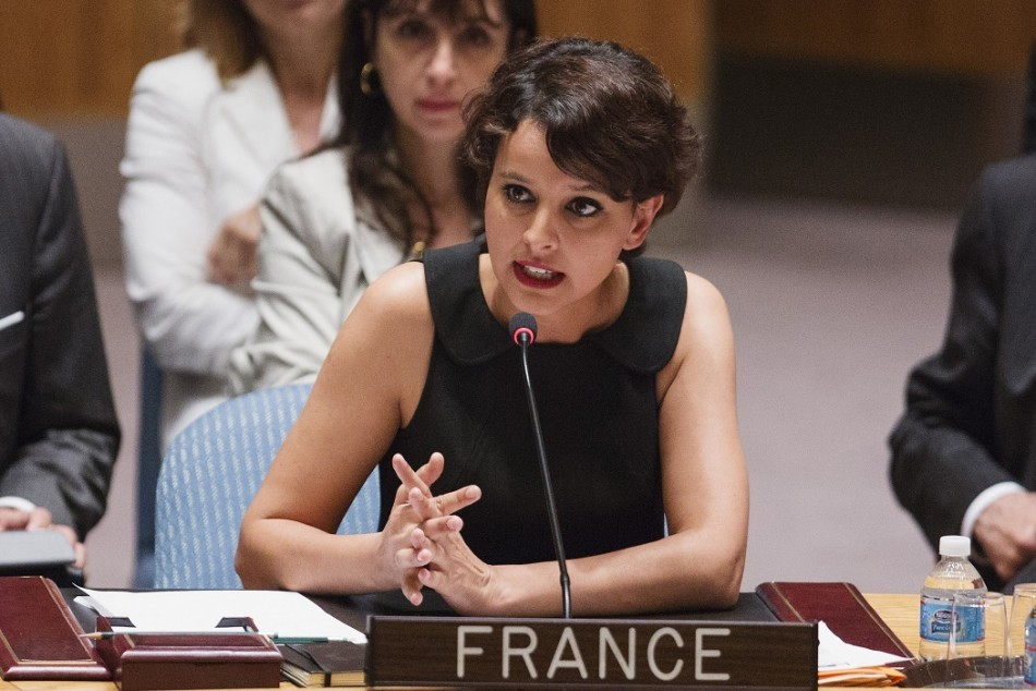 Women's Rights Minister Najat Vallaud-Belkacem