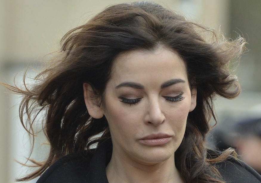 Nigella Lawson arrives at Isleworth Crown Court for fraud trial PIC: Reuters