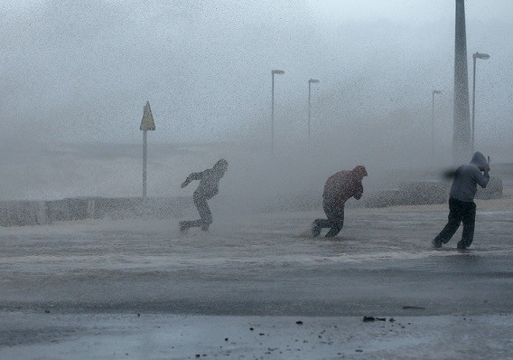 The storm which has battered the UK has now claimed its second life (Reuters)
