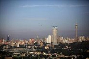 The skyline of Johannesburg