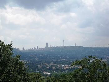 The skyline of Johannesburg