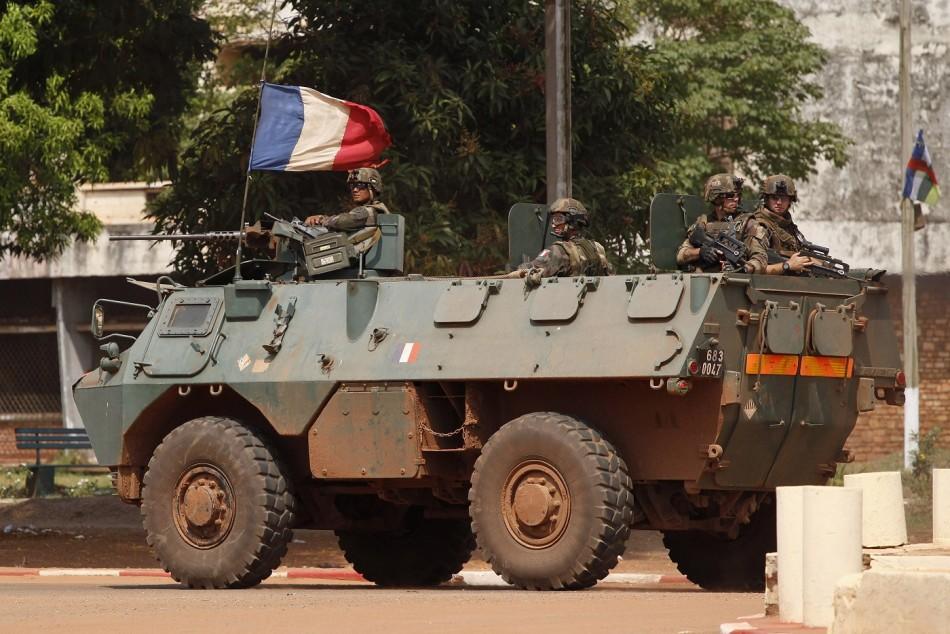 CAR French Troops Bangui