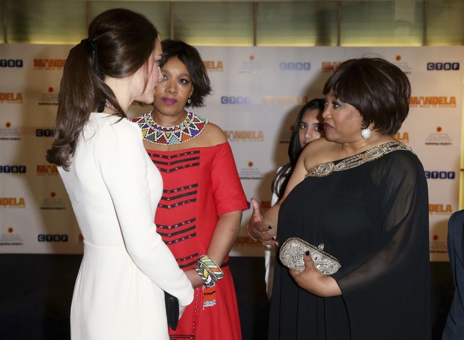 Kate Middleton with Zindzi Mandela
