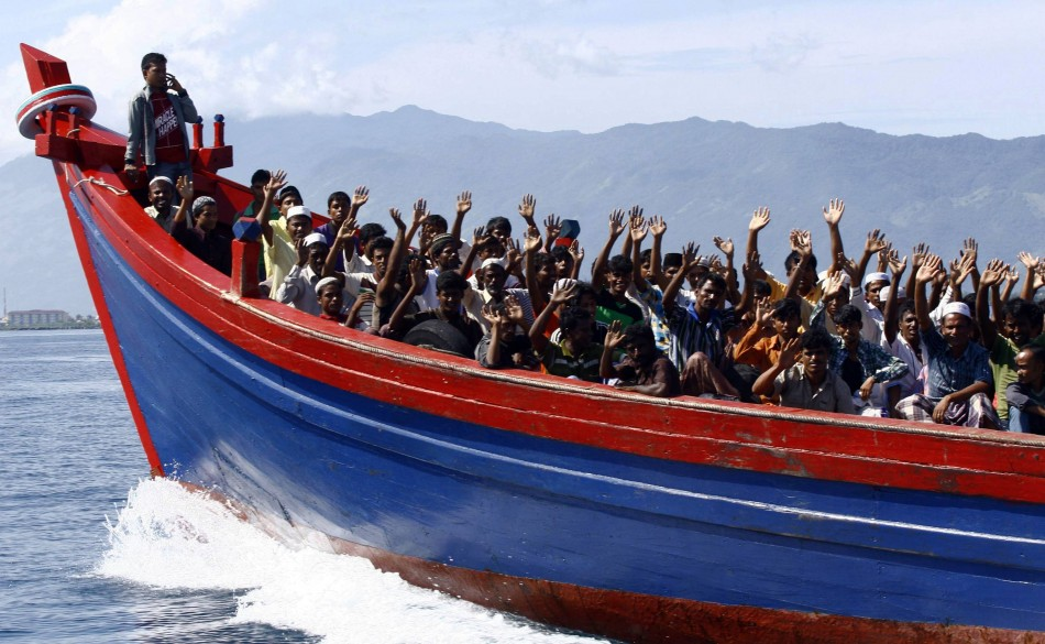 Ethnic Rohingya refugees from Myanmar