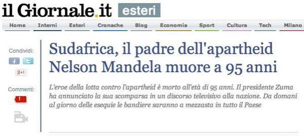 Nelson Mandela typo