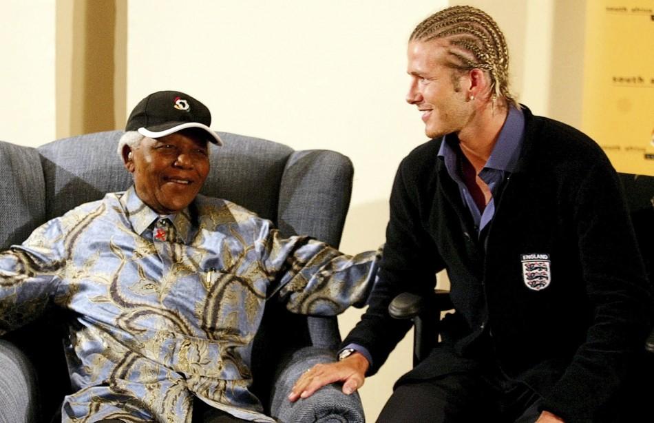 Nelson Mandela, David Beckham