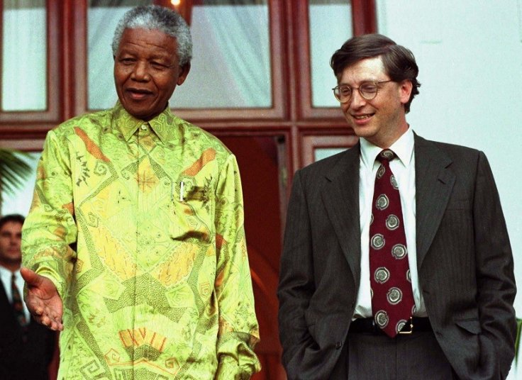 This lime green effort stands out even in Nelson Mandela's wardrobe PIC: Reuters