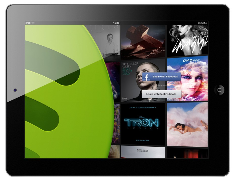 Spotify to launch a free add-supported mobile music service.
