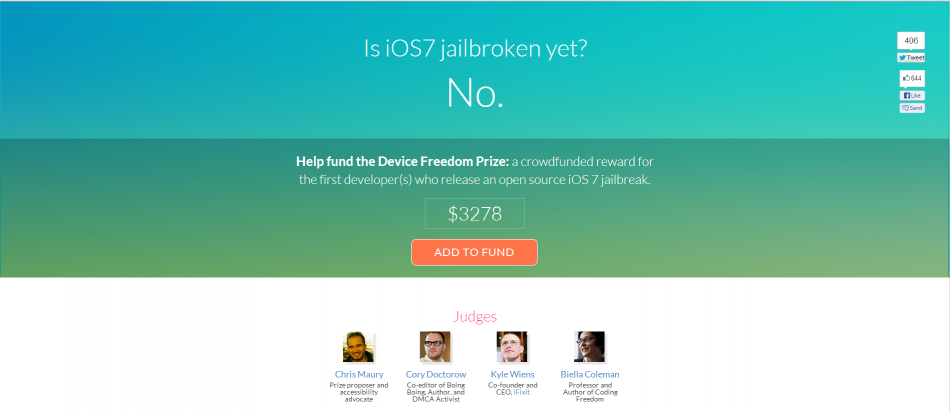 iOS 7 Jailbreak: Hackers to Be Rewarded for Working Jailbreak