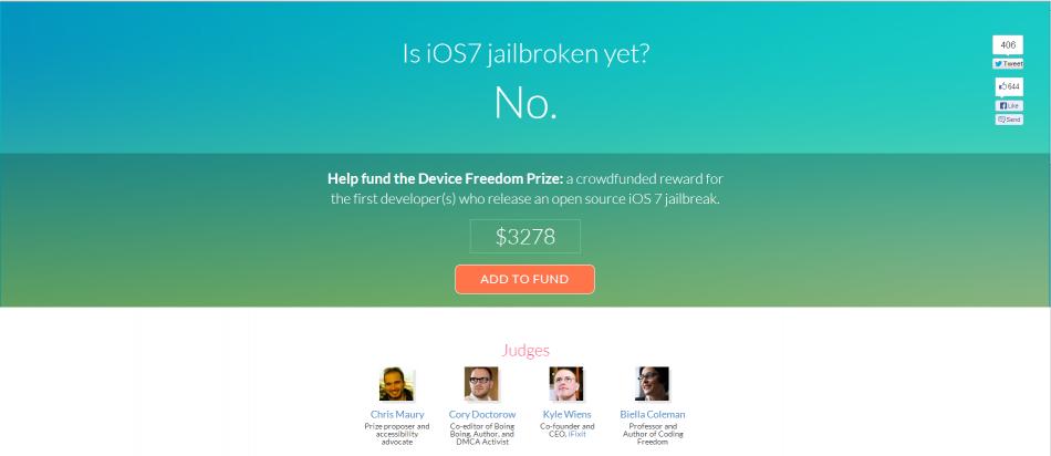 iOS 7 Jailbreak: Hackers to Be Rewarded for Working Jailbreak
