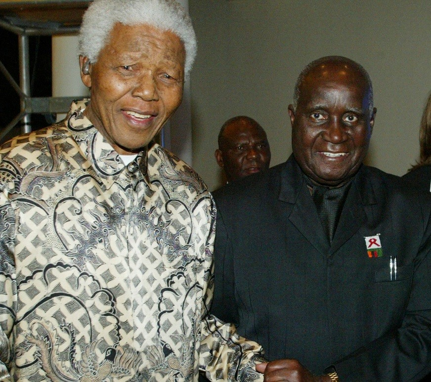 Nelson Mandela with former president of Zambia, Kenneth Kaunda PIC: Reuters