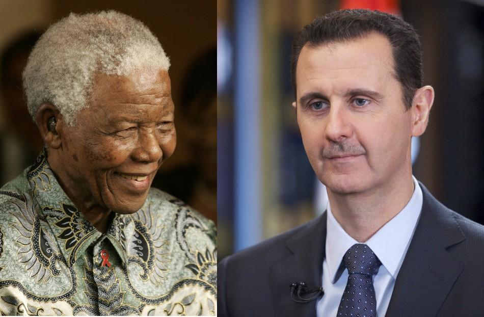 Syria's Bashar al-Assad mourns Nelson Mandela's death