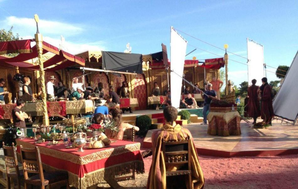 Game of Thrones 'The Purple Wedding' set