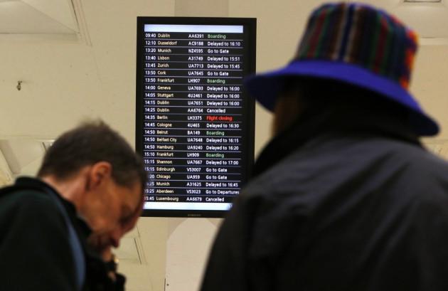 Flights delays at Heathrow earlier this year.