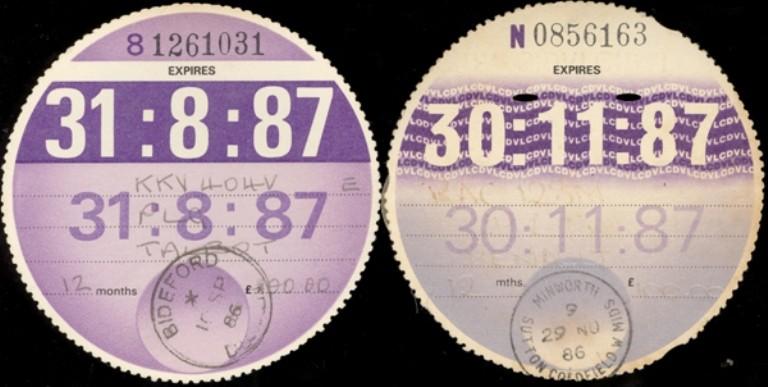 Expired: tax discs