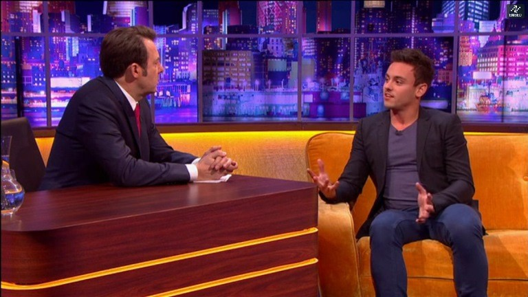 Tom Daley with Jonathan Ross