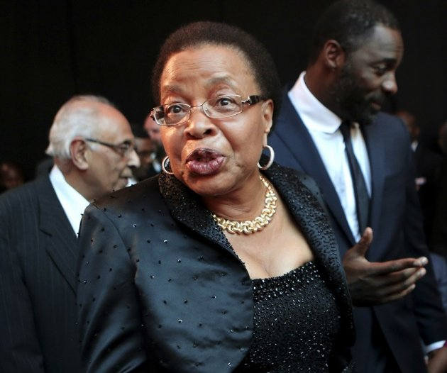 Graca Machel, wife of former South African president Nelson Mandela.