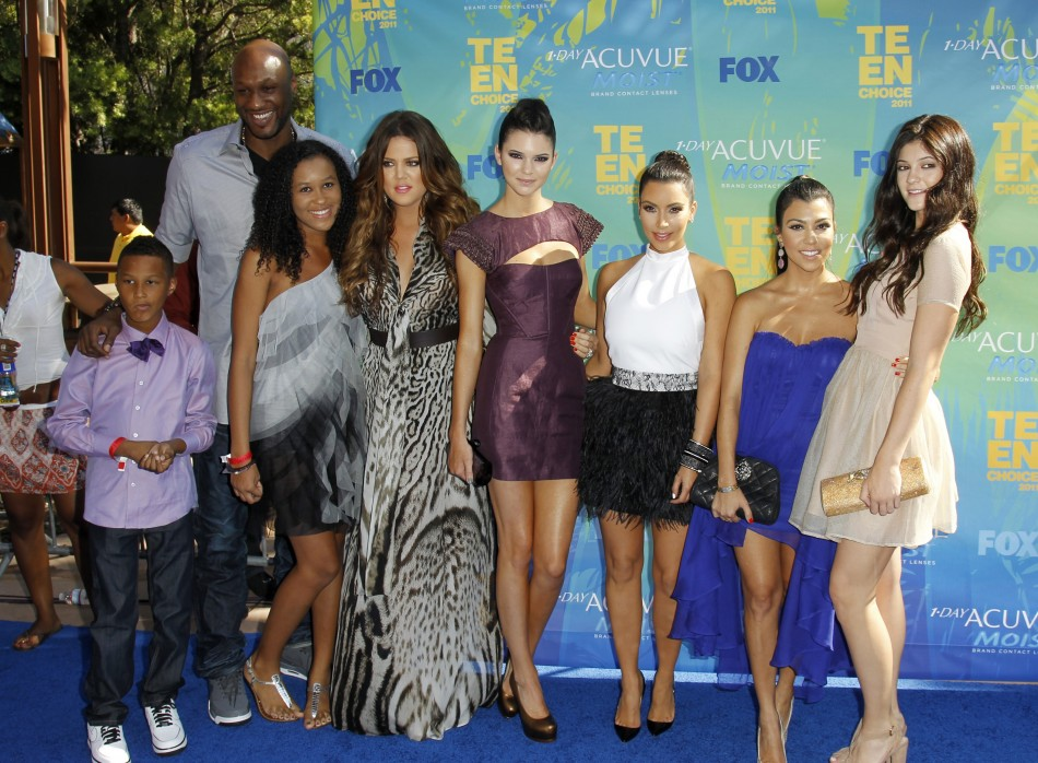 Kendall Jenner with the Kardashians