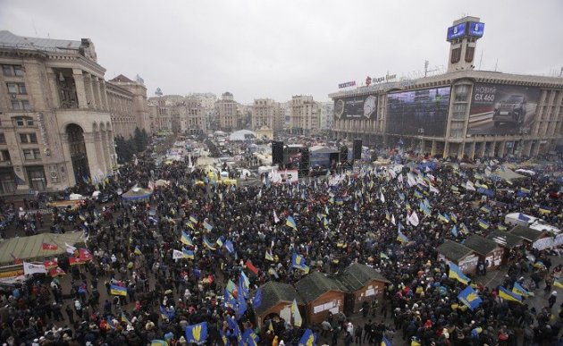 A million protesters expected to take part in pro-EU demonstrations in Kiev on Sunday. (Reuters)