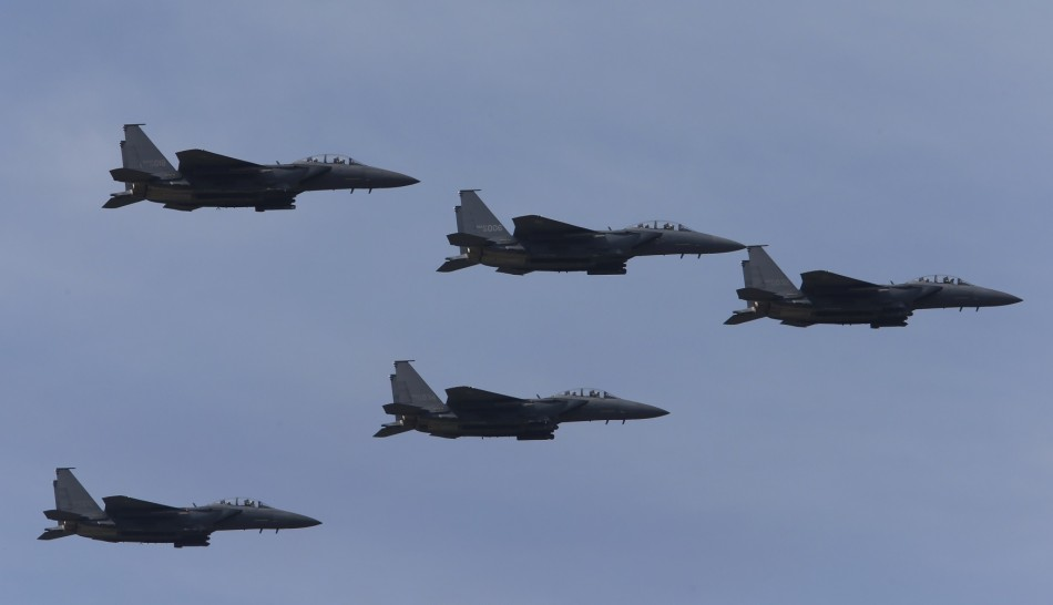 South Korean Air Force F-15k fighter jets.