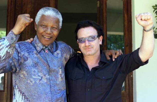 Nelson Mandela and U2's Bono