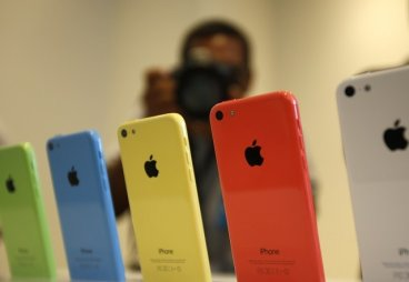 Apple  iPhone 5C in Apple Inc's media event, 2013.