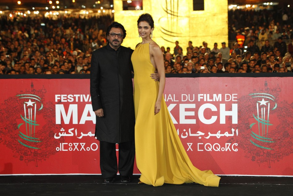 Deepika and Bhansali pose at red carpet. (Reuters)