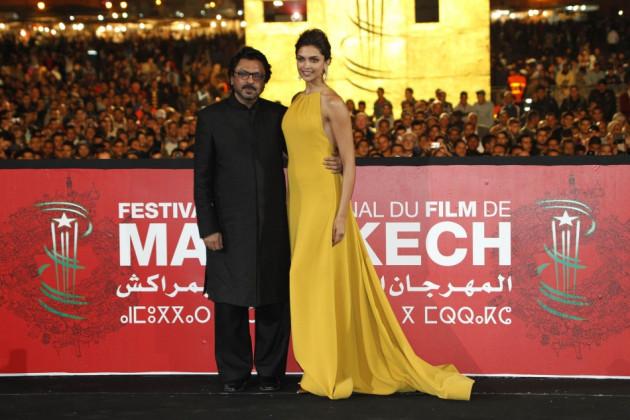 Deepika and Bhansali pose at red carpet. (Reuters)