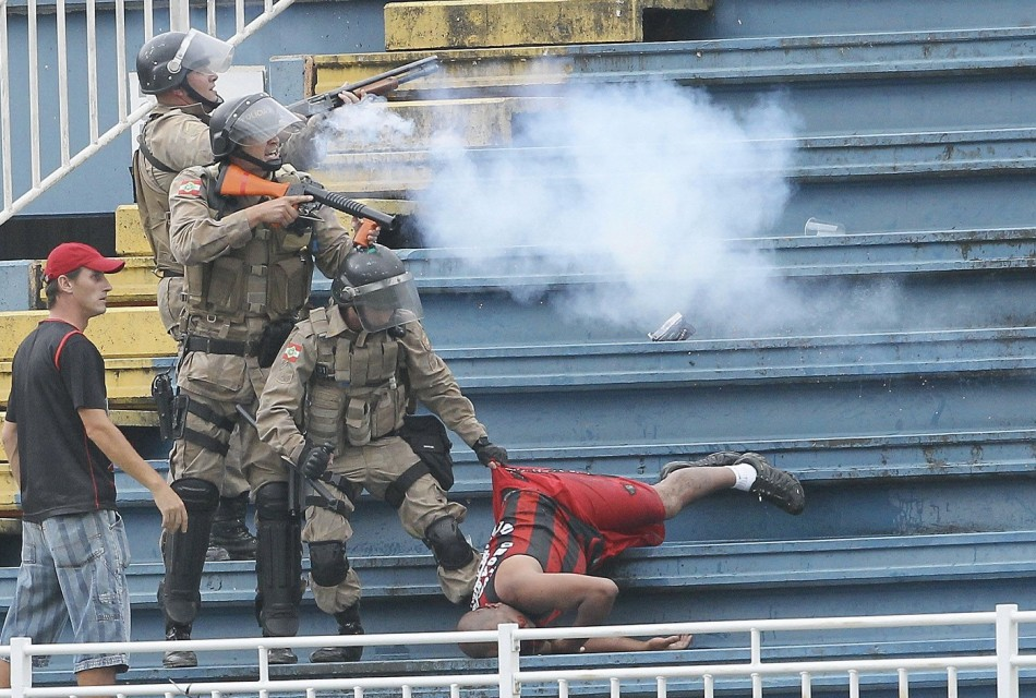 Police Brazil Stadium Football