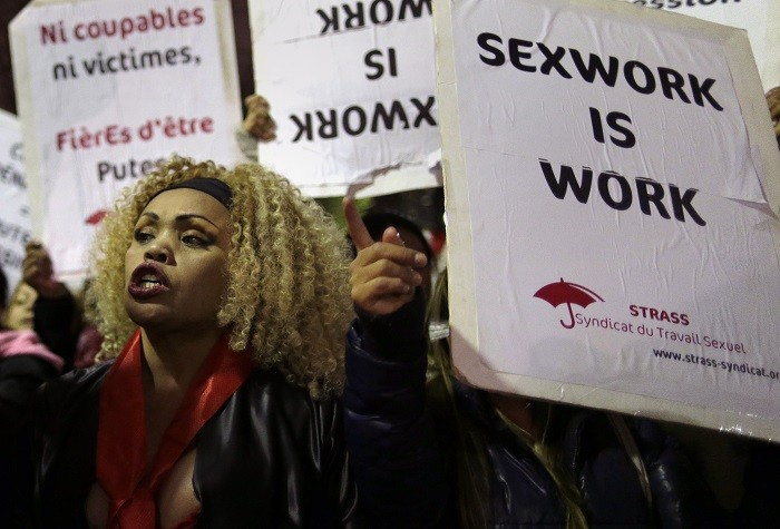 French prostitute protests