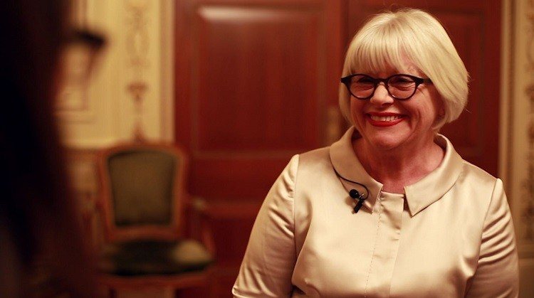Women in the City founder Gwen Rhys speaks to IBTimes UK about the annual awards event (Photo: IBTimes UK)