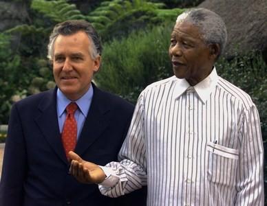 Peter Hain and Nelson Mandela