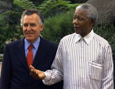 Peter Hain and Nelson Mandela