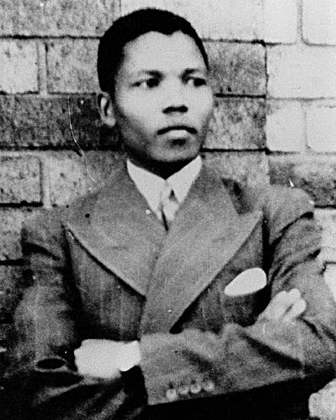 Nelson Mandela pictured in 1937