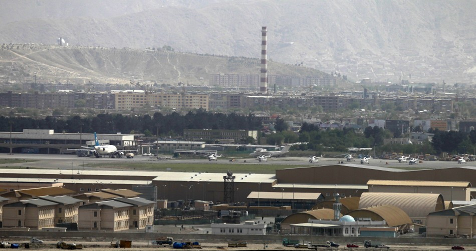 A general view of the Air Force compound in Kabul