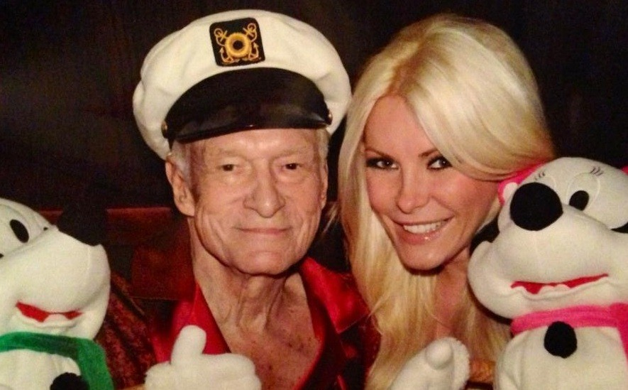 American model/television personality Crystal Harris revealed that she does not notice the 60-year age difference between her and Playboy founder husband Hugh Hefner. (Twitter)