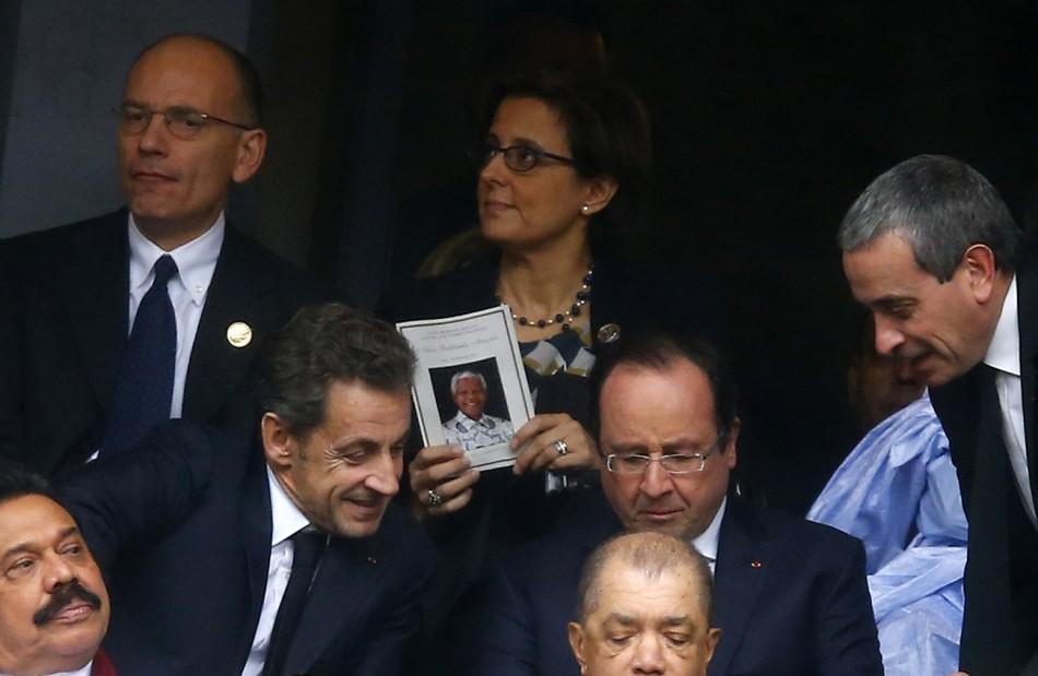 Sarkozy Hollande Mandela