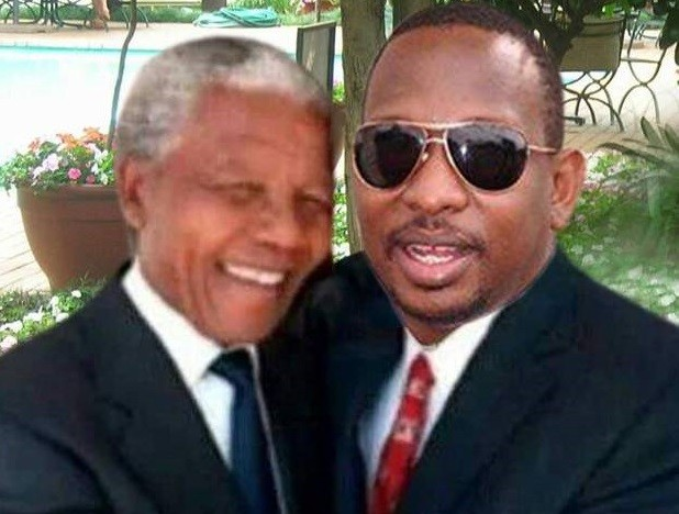 A misty Nelson Mandela and Kenyan Mike Sonko in public another Photoshop fail
