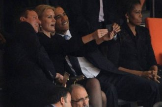 David Cameron, Helle Thorning-Schmidt and Barack Obama
