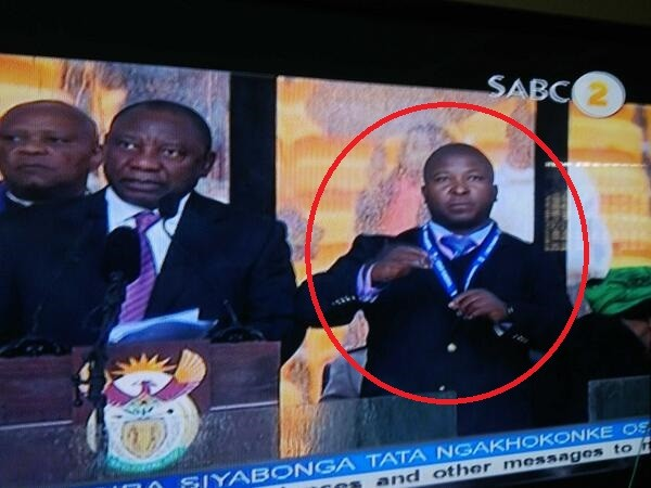 What's he on about? Signer at Nelson Mandela's memorial was
