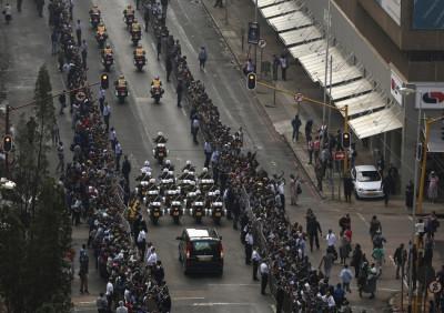 Mandela funeral procession