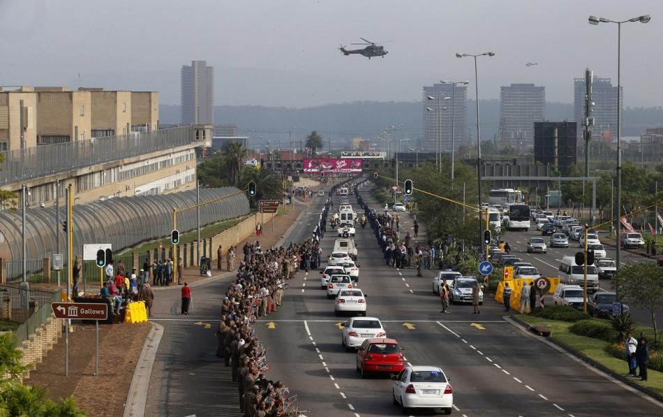 Mandela Funeral procession Pretoria