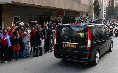 Mandela hearse