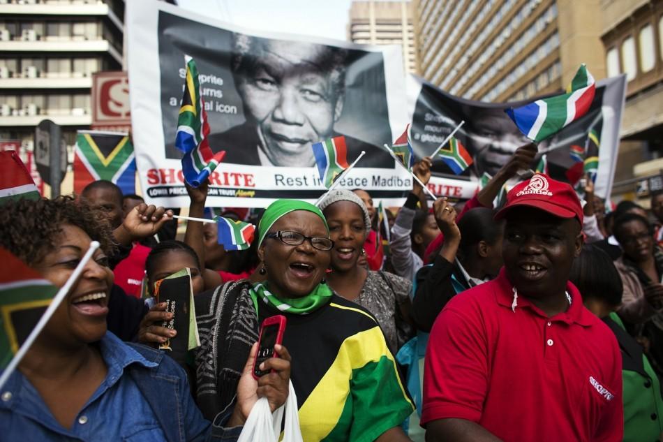 Nelson Mandela cortege