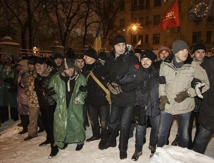 Vitaly Klitschko Joins Protesters