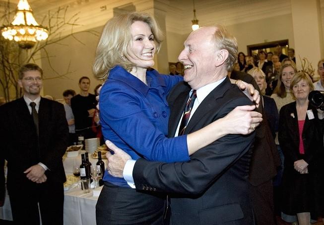 Helle Thorning-Schmidt dances with Neil Kinnock PIC: Reuters