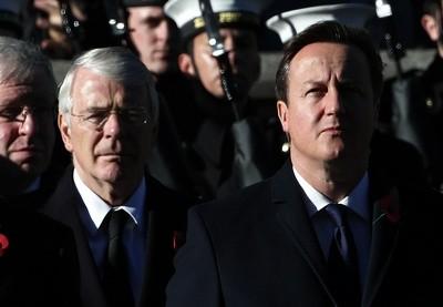 Sir John Major and David Cameron