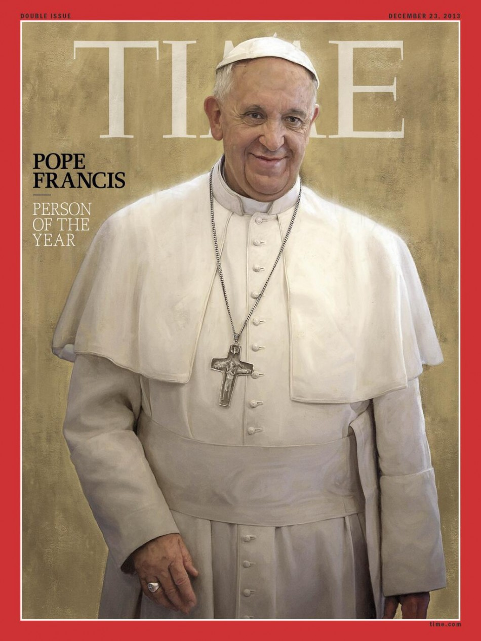 Time magazine names Pope Francis Person of the Year 2013