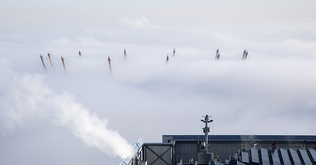 The fog covered the capital all morning (IB Times UK)